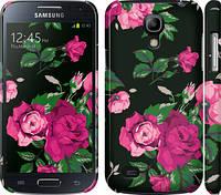 """Чехол на Samsung Galaxy S4 mini Duos GT i9192 Розы на черном фоне """"2239c-63"""""""