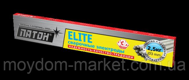 """Електроди """"ПАТОН"""" ELITE ф3 мм, 2,5 кг"""