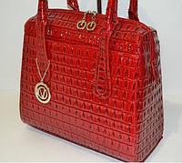 Женская сумка Саквояж красный