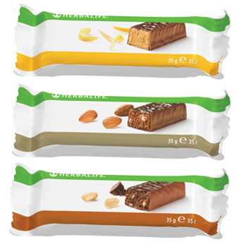 Протеиновые батончики от Гербалайф (ваниль-миндаль, шоколад-арахис, лимон)