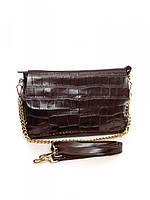 Женская кожаная сумка 30*21 см.Coffee, фото 1