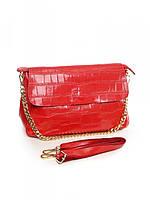 Женская кожаная сумка 30*21 см.Red, фото 1
