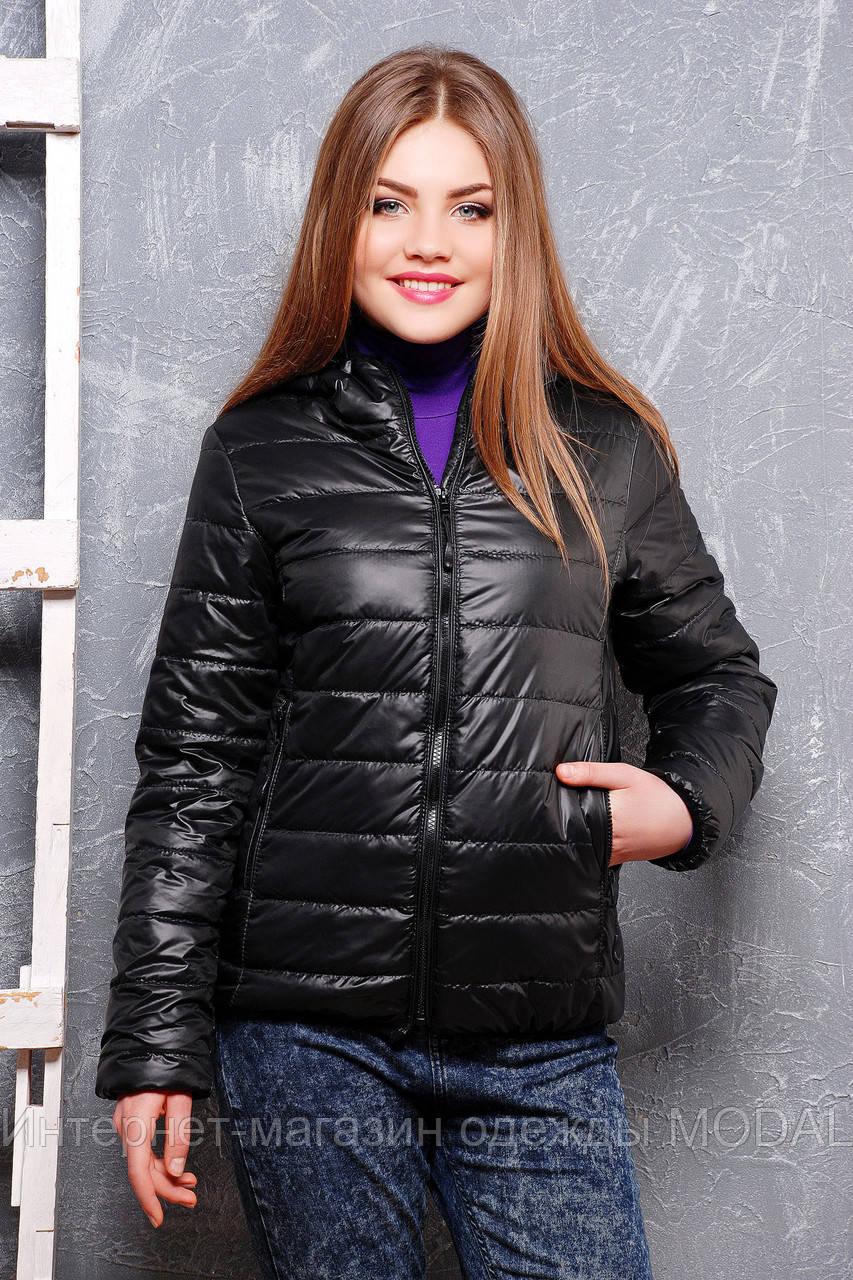 fe75e41f66a Женская короткая куртка демисезонная черного цвета - Интернет-магазин  одежды MODAL в Киеве