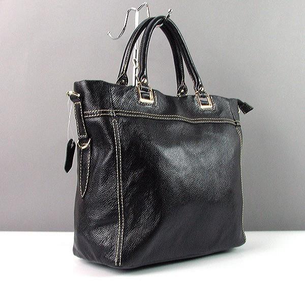 ae0099b67ebe Кожаная черная сумка 1041 женская матовая деловая прямоугольной формы -  Интернет магазин сумок SUMKOFF - женские