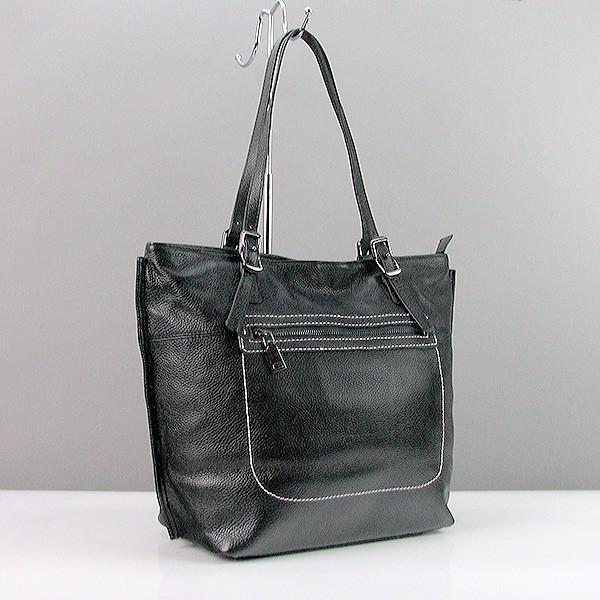 7652b575dbc4 Черная сумка-корзина кожаная с регулируемыми ручками - Интернет магазин  сумок SUMKOFF - женские и