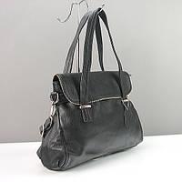 Классическая кожаная сумочка черная из мягкой кожи, фото 1