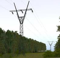 Опора линии электропередач модель 129