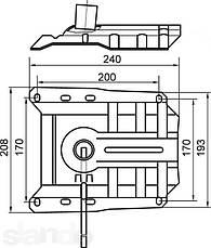 Механизм пиастра FREESTYLE для офисного кресла. М8, фото 3