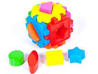 Логический куб-сортер, с геометрическими фигурами