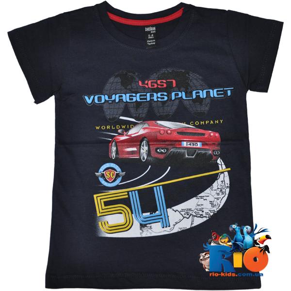 """Детская футболка """"Voyagers"""" , из тонкого трикотажа , для мальчиков от 1-2 ; 3-4 ; 5-6 ; 7-8 лет"""