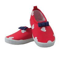 Обувь пляжные тапки с сердечками для девочки, красный 100% полиэстер. A500441 Archimede, Бельгия 22(р)