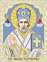 Святой Николай Чудотворец. Икона для вышивки бисером.