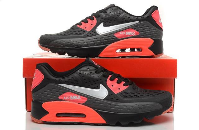 Мужские Кроссовки Nike Air Max 90 Ultra BR Black Red  найки аир