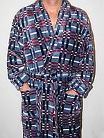 Теплый махровый мужской халат