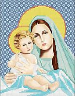 Мадонна с младенцем. Икона для вышивки бисером.