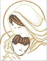 Мадонна с младенцем 1. Икона для вышивки бисером.