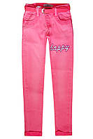 Весенние брюки для девочки коралл; 122 р-ры