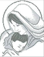 Мадонна с младенцем 2. Икона для вышивки бисером.
