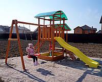 ИГРОВОЙ КОМПЛЕКС, детская площадка из дерева, фото 1