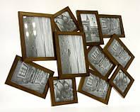 Деревянная фоторамка 10x10 x 3 + 10x15 x 6 + 13x18 x 2 W06