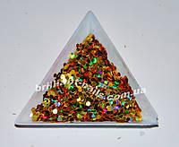 Шестигранники золото голографическое