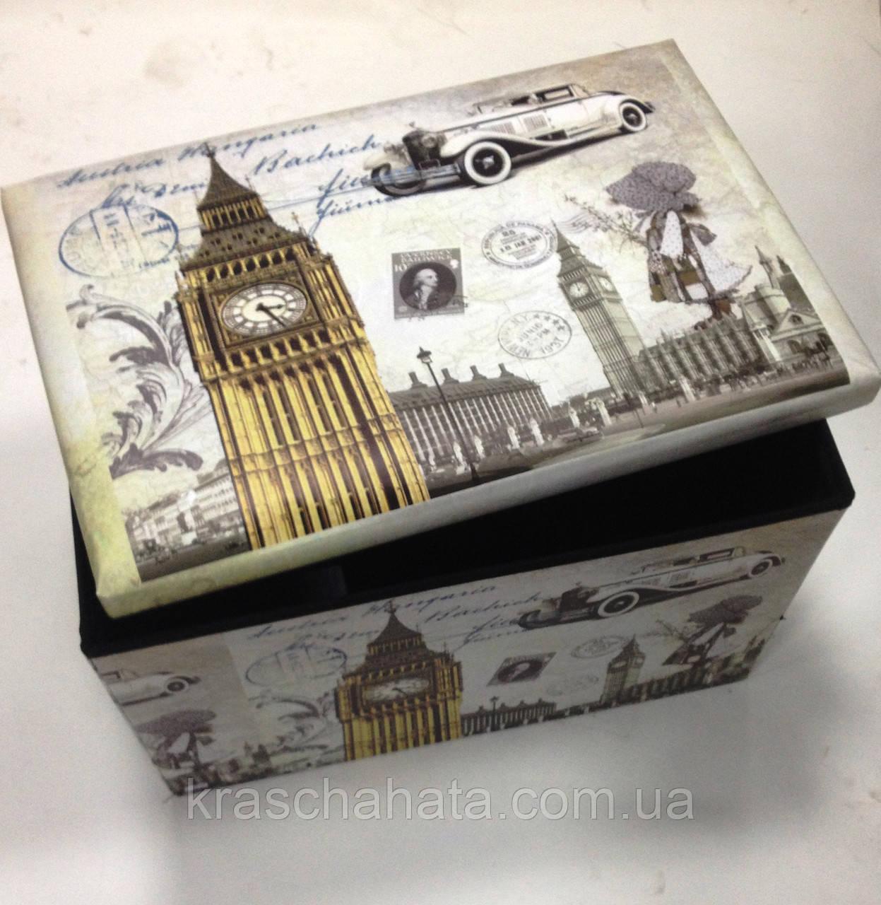 Складна коробка-пуф для зберігання, банкетка, 58х40х38 см, Декор для дому, Дніпропетровськ