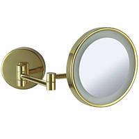Бронзовое косметическое зеркало с подсветкой Paccini&Saccardi Oggetti Appoggio 34A 22см