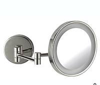 Косметическое зеркало с подсветкой настенное Oggetti Appoggio 22см хром