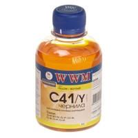 Чернила WWM для Canon CL-41С/CL-51С/CLI-8Y 200г Yellow Водорастворимые (C41/Y)