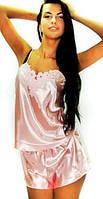 Шелковый женский комплект для сна, размеры 44-50, разные нежные цвета. Красивая домашняя одежда для женщин.