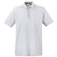 Серая мужская рубашка поло Premium