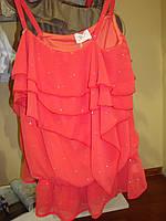 Топ с рюшами, со стразами, для девочки, бренд нарядной и праздничной одежды Illudia, Италия