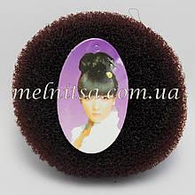 """Валик-бублик для прически """"Бабетта"""" (гулька), 11 см, цвет коричневый"""