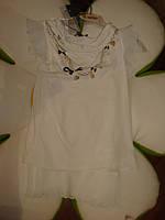 Итальянская туника рисунок: ожерелье дев. белый 95%хлопок,5%лайкра 12531426 Melby Италия 104(р)