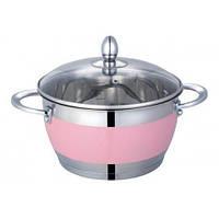 АКЦИЯ Lessner Кастрюля 1.9л Color Pink Brighton tp55117-16P