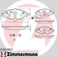 Тормозные колодки передние Zimmermann для Octavia A7 - 1.4TSI, 1.8TSI, 2.0TDI
