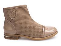 Женские ботинки DAV бежевого цвета