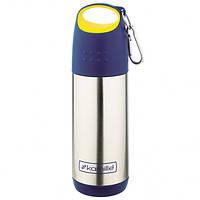 Термос 350мл из нержавеющей стали (желто-синяя крышка)