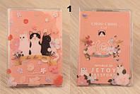 Обложка на паспорт с котиками Choo Choo Cat