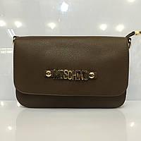 Женская сумка клатч Moschino 437 темный беж