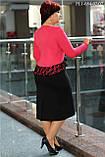 Элегантное платье красное 48-54 р., фото 2