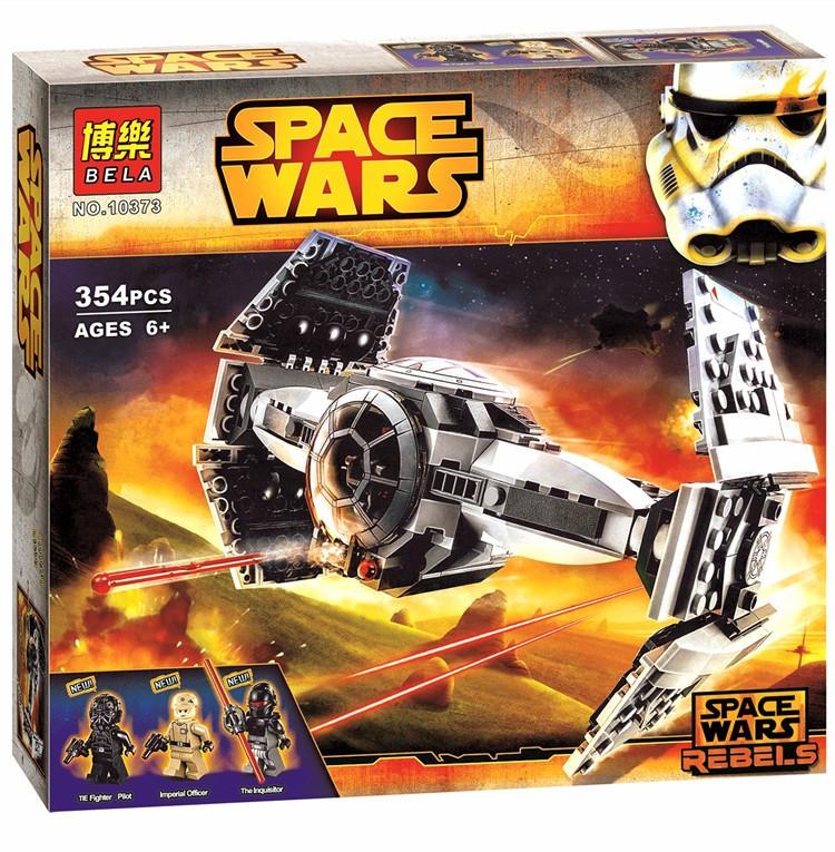 """Конструктор Bela 10373 Star Wars """"Истребитель TIE усовершенствованный"""" (аналог Lego 75082), 354 дет"""