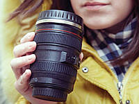 Чашка - термос (термокружка) обьектив Canon - подарок для фотографа!