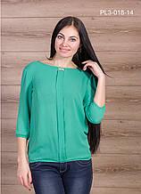 Блузка женская 44-54 р. зеленая.