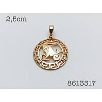 Знаки зодиака, 022 медицинская сталь+ювелирный сплав