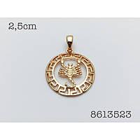 Знаки зодиака, 027 медицинская сталь+ювелирный сплав