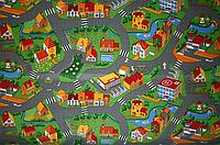 Детский ковролин с дорогами AW Village