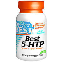 5-Гидрокситриптофан (5-HTP), Doctor's Best, 100 мг, 60 капсул. Сделано в США.