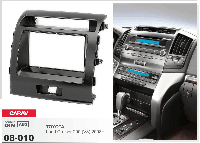 2-DIN переходная рамка TOYOTA Land Cruiser 200 (V8) 2008+, CARAV 08-010