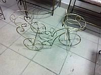 """Кованая подставка для цветов """"велосипед"""" маленькая"""
